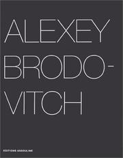Cover of: Alexey Brodovitch by Alexey Brodovitch