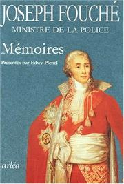 Cover of: Mémoires by Fouché, Joseph duc d'Otrante