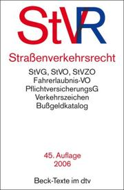 Cover of: Strassenverkehrsrecht by Germany