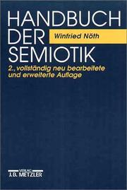 Cover of: Handbuch der Semiotik by Winfried Nöth