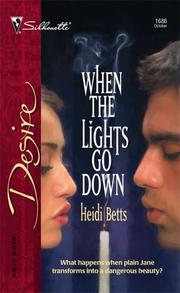 Cover of: When the lights go down by Heidi Betts