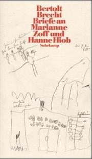 Cover of: Briefe an Marianne Zoff und Hanne Hiob by Bertolt Brecht
