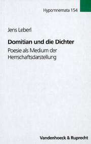 Cover of: Domitian und die Dichter by Jens Leberl