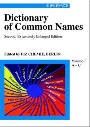 Common Names Berlin FIZ Chemie