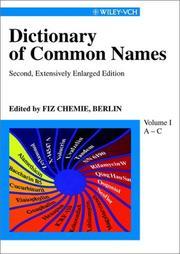 Common Names Berlin FIZ Chemie