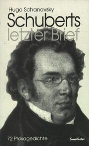 Cover of: Schuberts letzter Brief by Hugo Schanovsky