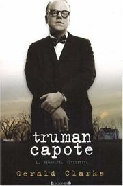 Cover of: Truman Capote by Gerald Clarke