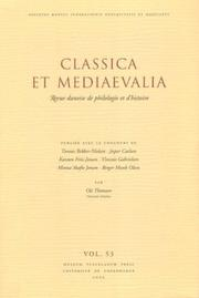 Cover of: Classica Et Mediaevalia by Ole Thomsen