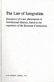 Cover of: The law of integration by Pierre Pescatore