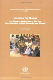 Cover of: Listening for change by Robert Muggah