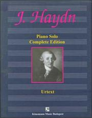 Cover of: Piano Solo by Franz Joseph Haydn