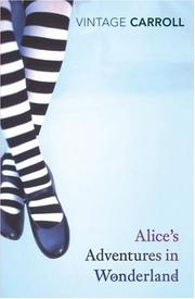 Cover of: Alice's Adventures in Wonderland by Lewis Carroll