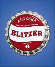 Cover of: Algebra For College Students (6th Edition) (The Blitzer Developmental Algebra Series) | Robert Blitzer