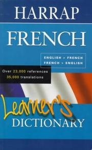 Cover of: Harrap French Learner's Dictionary by Harrap
