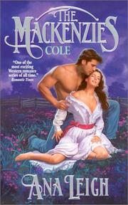 Cover of: The Mackenzies -Cole by Ana Leigh