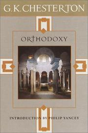 Cover of: Orthodoxy by G. K. Chesterton