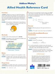 Cover of: Math for Allied Health Study/Reference Card by Steve Forshier
