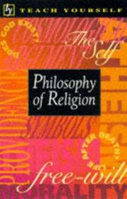 Cover of: Philosophy of Religion by M.R. Thompson