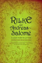 Cover of: Rilke and Andreas-Salome by Rainer Maria Rilke