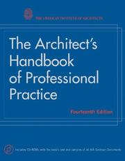 Cover of: The Architect's Handbook of Professional Practice by American Institute of Architects.