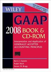 Cover of: Wiley GAAP 2008, CD-ROM and Book by Steven M. Bragg