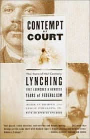 Cover of: Contempt of court by Mark Curriden