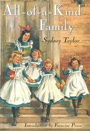 Cover of: All-of-a-kind family by Sydney Taylor