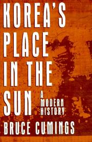 Cover of: Korea&#39;s Place in the Sun by Bruce Cumings