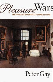 Cover of: The Bourgeois experience by Peter Gay