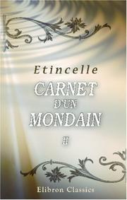 Cover of: Carnet d\'un Mondain by Etincelle