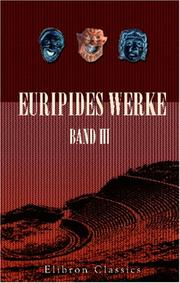 Cover of: Euripides Werke by Euripides