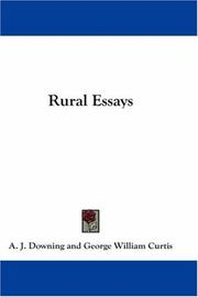 Cover of: Rural essays by A. J. Downing