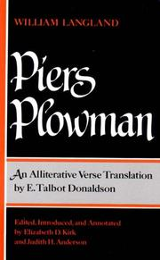 Cover of: Piers Plowman by William Langland