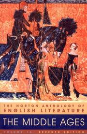 Cover of: The Norton Anthology of English Literature, Vol. 1 A by M.H. Abrams, M. H. Abrams, Stephen Greenblatt