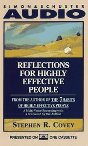 Cover of: Reflections for Highly Effective People by Stephen R. Covey