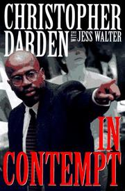 Cover of: In contempt by Christopher A. Darden