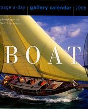 Boat Gallery Calendar 2006 (Page a Day Gallery Calendar) Neil Rabinowitz