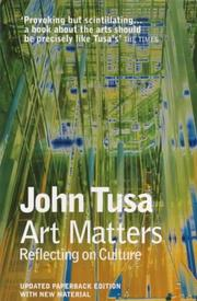Cover of: Art Matters by John Tusa