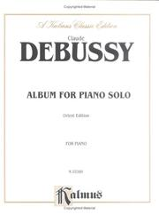 Cover of: Debussy Album by Claude Debussy