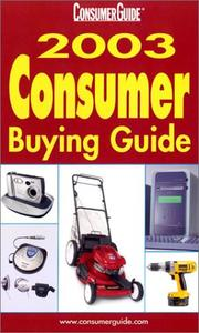 Cover of: 2003 Consumer Buying Guide by Consumer Guide editors