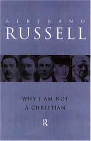 Cover of: Why I am not a Christian by Bertrand Russell