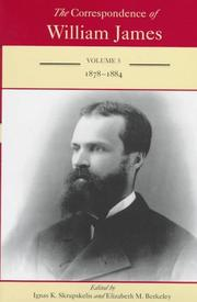 Cover of: The Correspondence of William James by William James