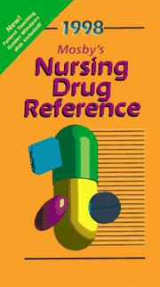 Cover of: Mosby's 1998 Nursing Drug Reference (Annual) by Linda Skidmore-Roth