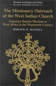 Cover of: The missionary outreach of the West Indian church by Horace O. Russell