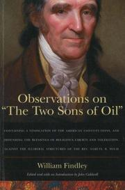Cover of: Observations on The two sons of oil by William Findley