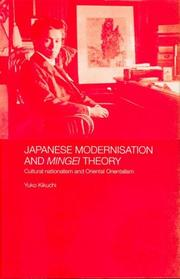 Cover of: Japanese modernisation and Mingei Theory by Yūko Kikuchi