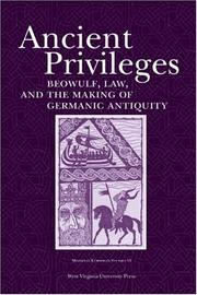 Cover of: Ancient privileges by Stefan Jurasinski