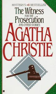 Cover of: Witness for the prosecution by Agatha Christie