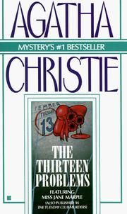 Cover of: The thirteen problems by Agatha Christie