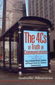 Cover of: The 4Cs of Truth in Communication by Isabelle Albanese